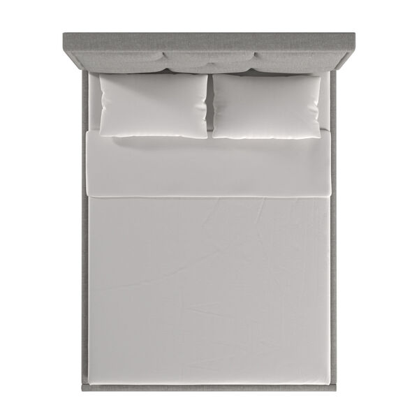 Skyler Gray Upholstered Queen Panel Bed, image 4